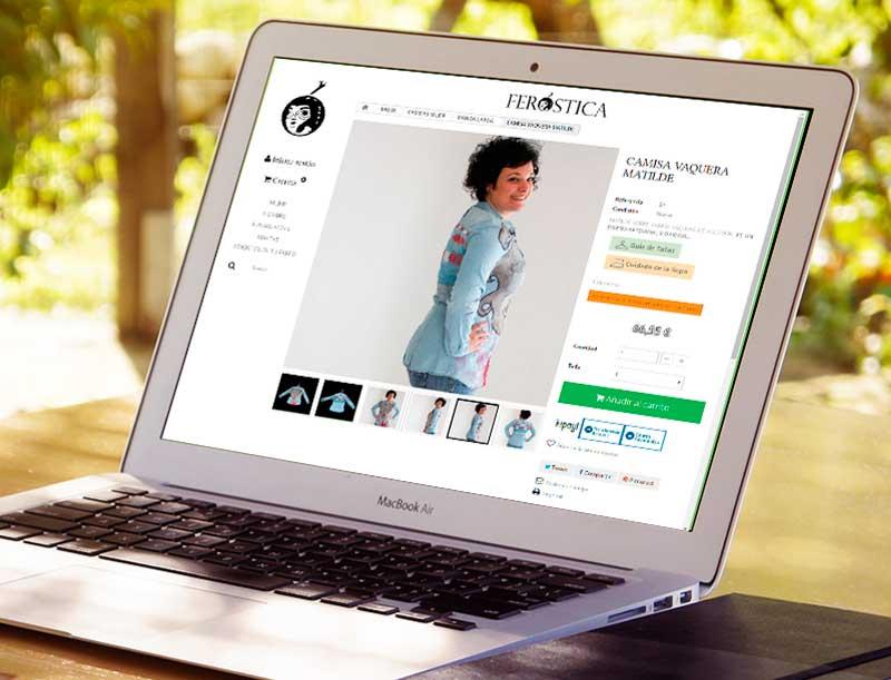 Diseño web: Página de producto ecommerce Feróstica