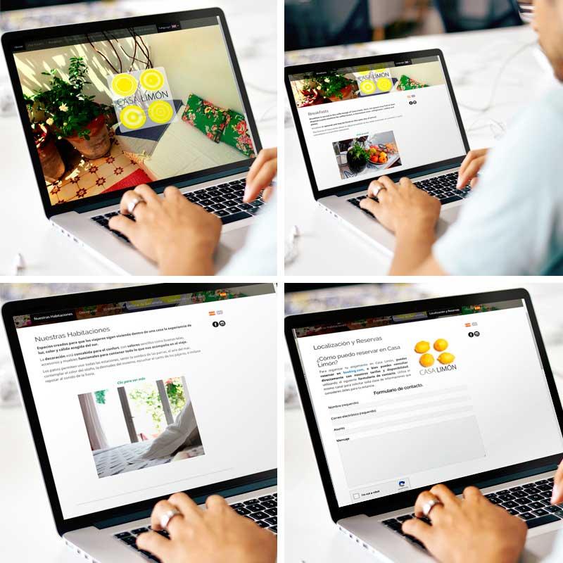 Proyecto web Hostal Casa Limón