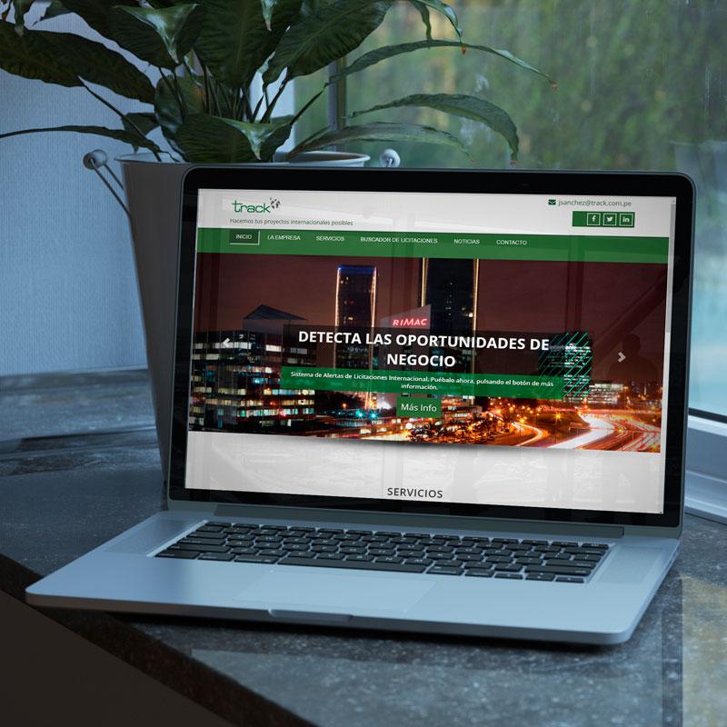 DIseño web de la página corporativa de Track Perú