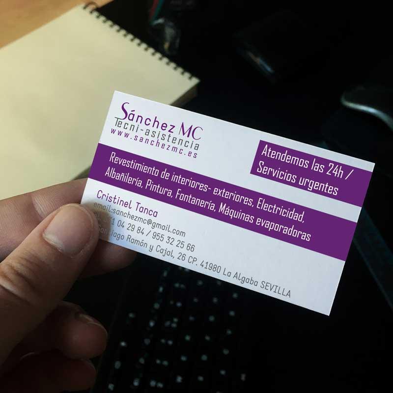 Tarjetas de visita para Sánchez MC
